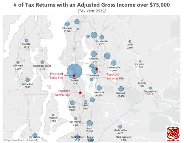 Puget Sound IRS returns Map